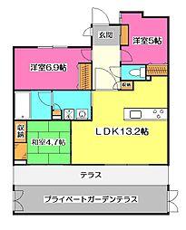 アパガーデン新所沢緑町[1階]の間取り