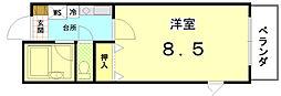 ペラパラスII[3-A号室]の間取り