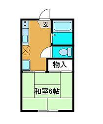 コーポ渋谷[1階]の間取り