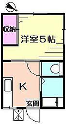 シティハイム片倉コーポ[1階]の間取り