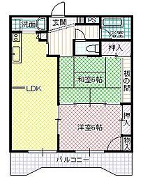 パンドラマンション[5階]の間取り