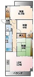 コロナール南甲子園[3階]の間取り