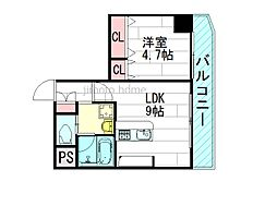 エール茨木本町[2階]の間取り