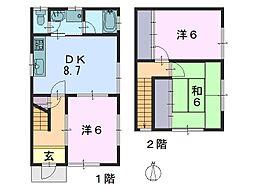 [一戸建] 奈良県奈良市菅原町 の賃貸【/】の間取り