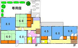 [一戸建] 神奈川県横浜市磯子区杉田5丁目 の賃貸【/】の間取り