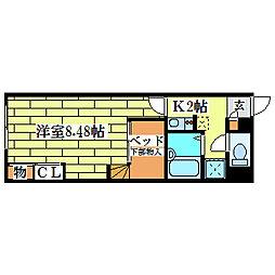 レオパレスメイフラワー清田[1階]の間取り