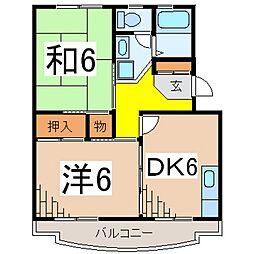 メゾンOZAWA(蓮正寺)[205号室号室]の間取り