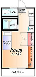 APEX  家具・家電付き[2階]の間取り