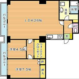 紅梅台ハイツ[5階]の間取り