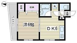 カルチェラタン動坂[202号室]の間取り