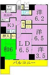 ライオンズマンション綾瀬・谷中公園[13階]の間取り
