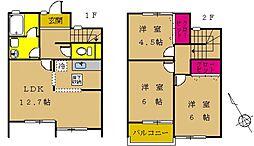 [テラスハウス] 東京都町田市高ヶ坂3丁目 の賃貸【/】の間取り