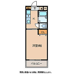 長野県上田市中央4丁目の賃貸マンションの間取り