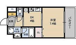 ドルチェヴィータ新大阪[5階]の間取り