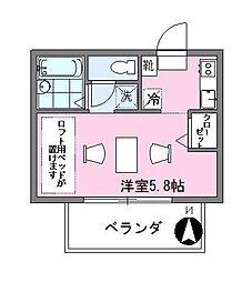 東京都大田区東嶺町の賃貸アパートの間取り