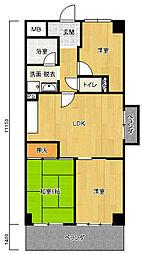 シャルマンコーポ南平野[2階]の間取り