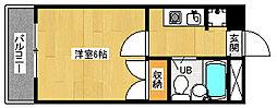 京都府向日市寺戸町西田中瀬の賃貸マンションの間取り