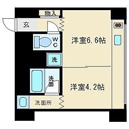 北浜コンソール[7階]の間取り