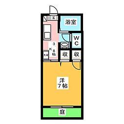 サン・つしま[1階]の間取り