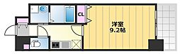 TKアンバーコート津久野 5階1Kの間取り