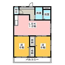 メゾン八田[2階]の間取り