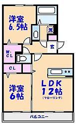 千葉県市川市塩焼2丁目の賃貸アパートの間取り
