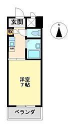 スプリング伊勢山[7階]の間取り