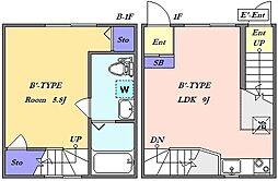 東急目黒線 武蔵小山駅 徒歩6分の賃貸マンション 地下1階1LDKの間取り
