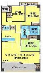 パデシオン六角堀川東[1401号室号室]の間取り