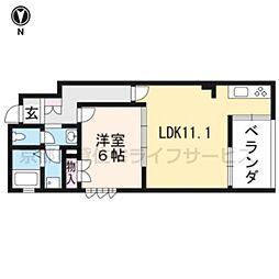 (仮称)下京区吉文字町ヘーベルメゾン[201号室]の間取り