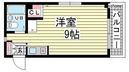 兵庫県神戸市灘区灘南通5丁目の賃貸マンションの間取り