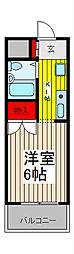 ジョイフル浦和[1階]の間取り