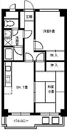 エコーバレー東戸塚[303号室]の間取り