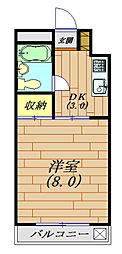 生活保護受給者支援賃貸サニーハイツ津田沼[302号室号室]の間取り