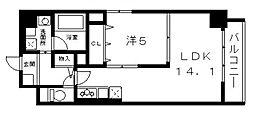 シリウスコート四天王寺 Bタイプ[7階]の間取り