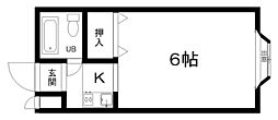 Nマンション[1階]の間取り