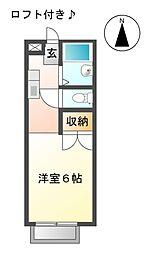 愛知県日進市栄2丁目の賃貸アパートの間取り