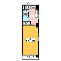 Le Bois De神宮[7階]の間取り