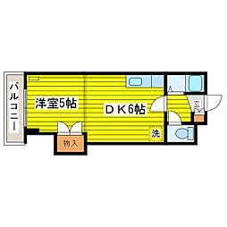 北海道札幌市東区北十九条東17丁目の賃貸マンションの間取り