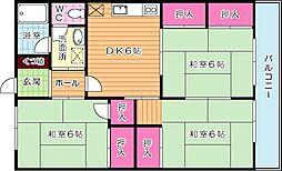 大里東マンション[401号室]の間取り