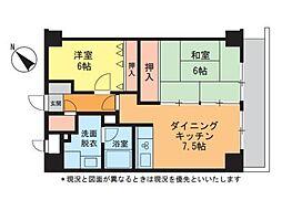 アイランドマンション大坂台[3階]の間取り