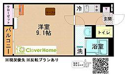 神奈川県座間市緑ケ丘3丁目の賃貸アパートの間取り
