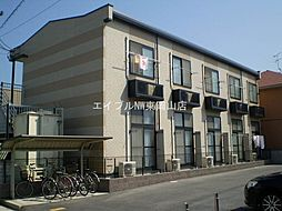 岡山県岡山市東区西大寺上2丁目の賃貸アパートの外観