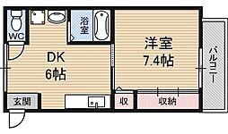 大阪府大阪市淀川区十八条2丁目の賃貸マンションの間取り