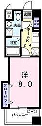 京阪本線 寝屋川市駅 徒歩25分の賃貸マンション 2階1Kの間取り