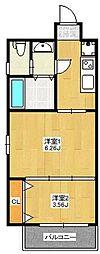 A.T.博多ステーションI[701号室]の間取り