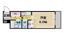 レガーレ布施[3階]の間取り