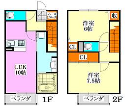 [テラスハウス] 千葉県習志野市香澄2丁目 の賃貸【/】の間取り