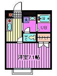 埼玉県さいたま市西区指扇領別所の賃貸アパートの間取り