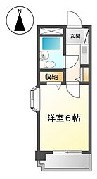 愛知県名古屋市天白区平針4丁目の賃貸マンションの間取り